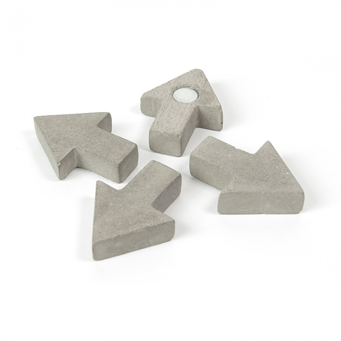 Magnet  - sageata ciment - CONCRETE ARROW (4 buc/set) 0